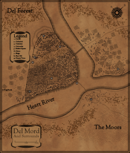 The City of Del Mord Map